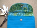 Blue & Green keychain wallet